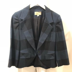 Elizabeth & James - Plaid Cropped Blazer